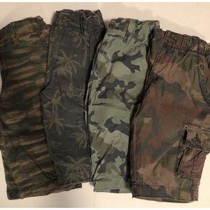 Camo Twill Shorts Bundle Size 12 Slim Boys